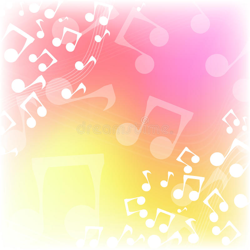 Multicolor предпосылка музыки бесплатная иллюстрация
