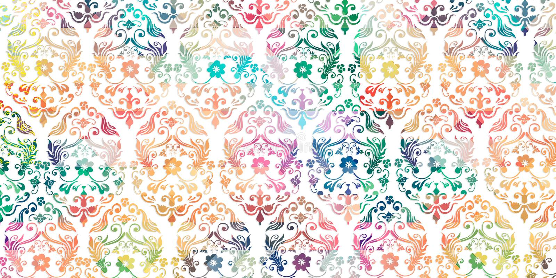 Multicolor цифровое оформление плитки стены для внутреннего дома, обоев, линолеума, Веб-страницы, предпосылки, иллюстрации иллюстрация вектора