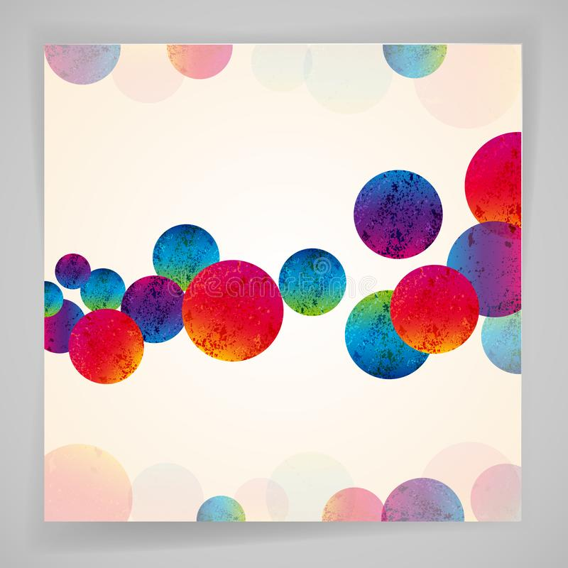 Multicolor abstract bright background. Circles elements for design. Vector illustration royalty free illustration