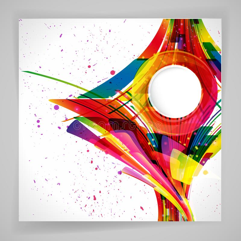 Multicolor abstract bright background. Elements for design. Eps10 stock illustration
