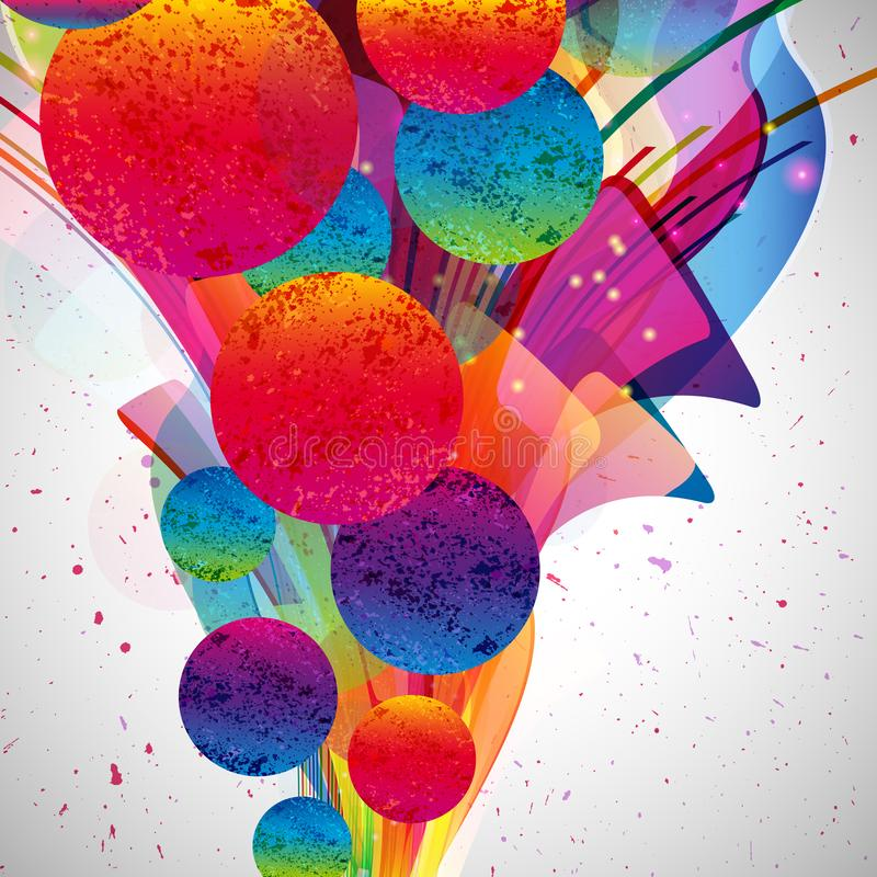 Multicolor abstract bright background. Elements for design. Eps10 royalty free illustration