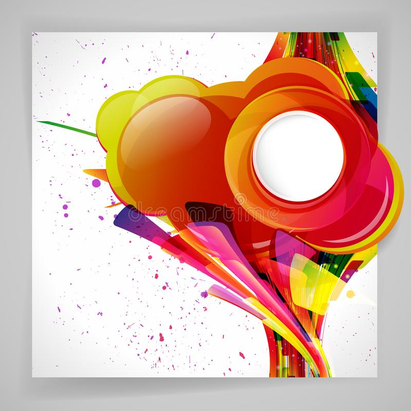 Multicolor abstract bright background. Elements for design. Eps10. Vector illustration stock illustration