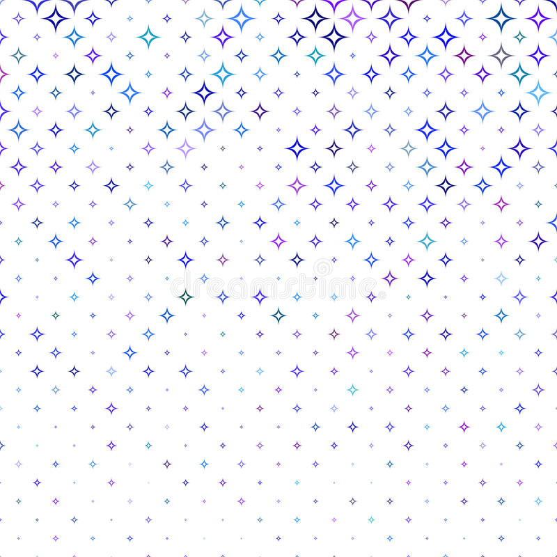 Multicolor abstract curved star pattern background. Design royalty free illustration