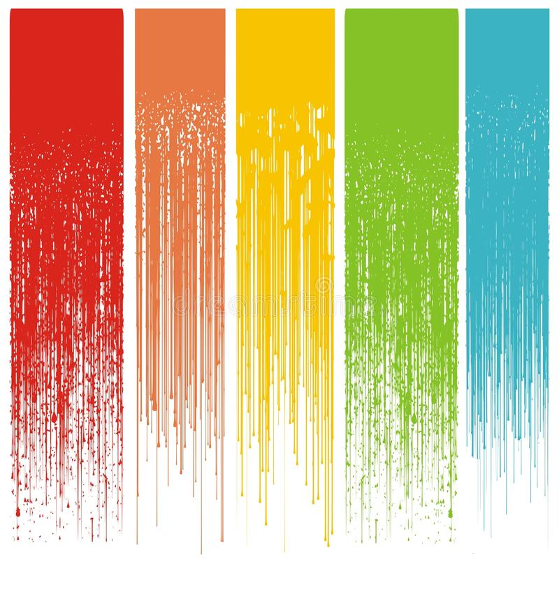 Download Multicolor Abstract Grunge Drips Stock Vector - Image: 12600282
