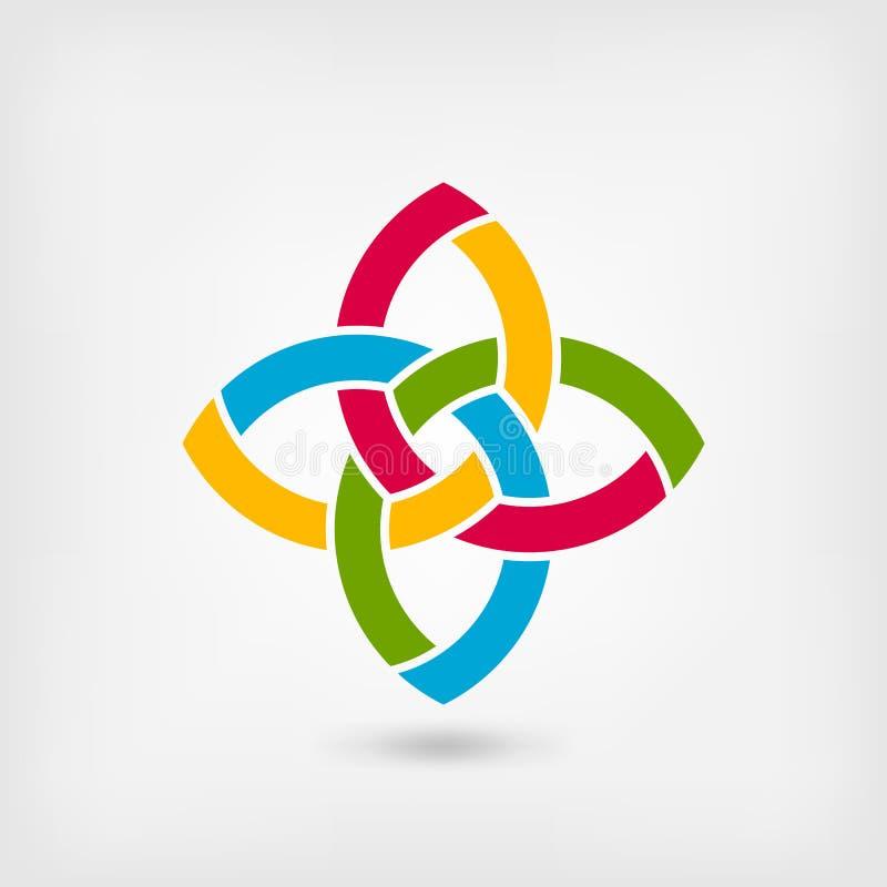 Multicolor abstract intertwining symbol stock illustration