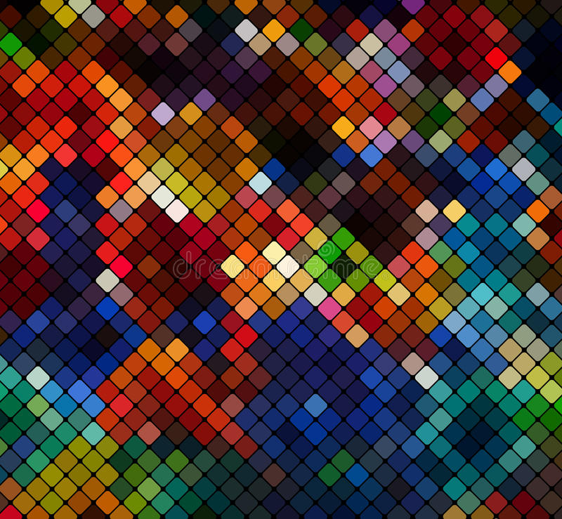 Multicolor abstract light disco background pixel mosaic v vector illustration