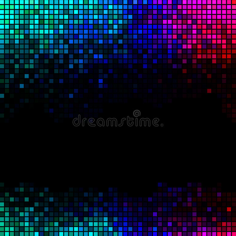 Multicolor abstract lights disco background stock illustration