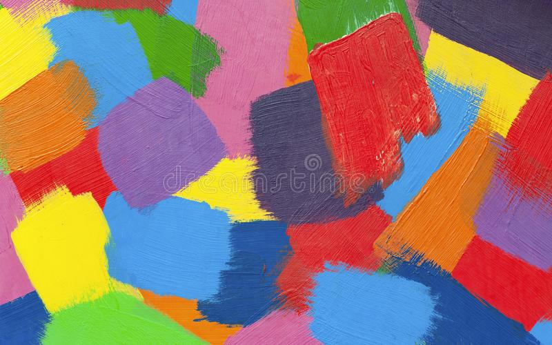 Multicolor abstract strokes with oil paint. royalty free stock images