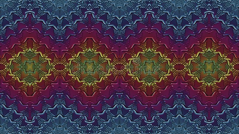 Multicolor abstrakcjonistyczny symmetric tło dla drukować na clothin royalty ilustracja