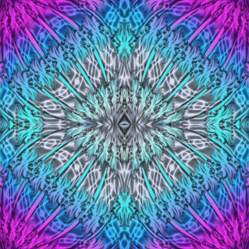 Multicolor abstrakcjonistyczny symmetric tło dla drukować na clothin ilustracji