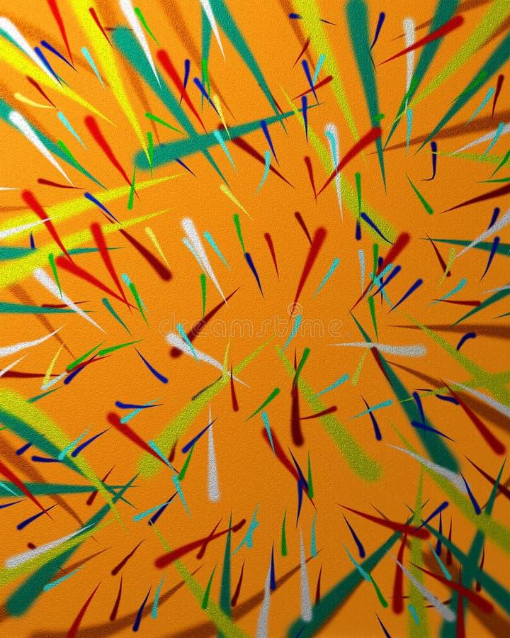 Multicolor airbrush. Airbrush illustration in multicolor patten royalty free illustration