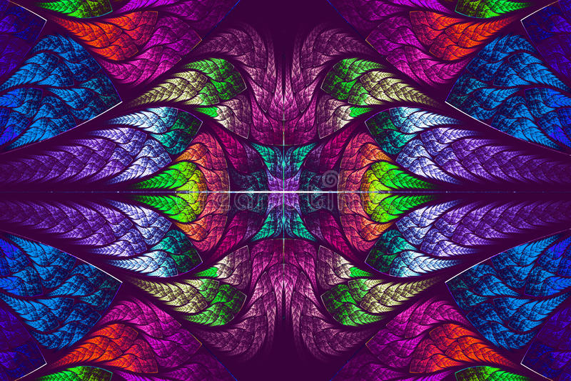 Multicolor beautiful fractal pattern stock illustration