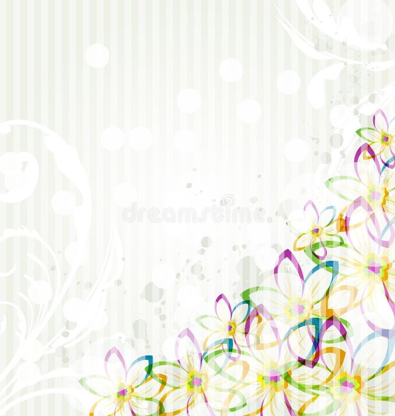 Multicolor blommabakgrund royaltyfri illustrationer