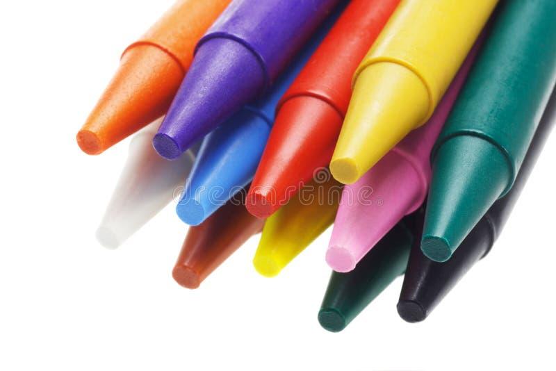 multicolor blyertspennor för crayon royaltyfri foto