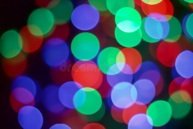 Multicolor bokeh DOWODZONY światło zdjęcia stock