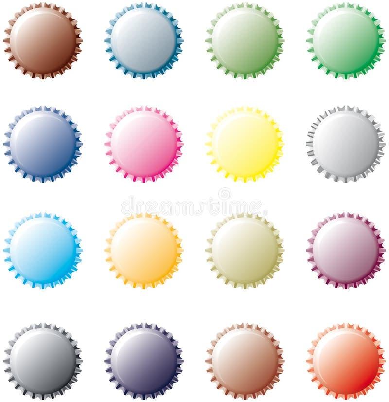 Free Multicolor Bottle Caps Stock Images - 12170754
