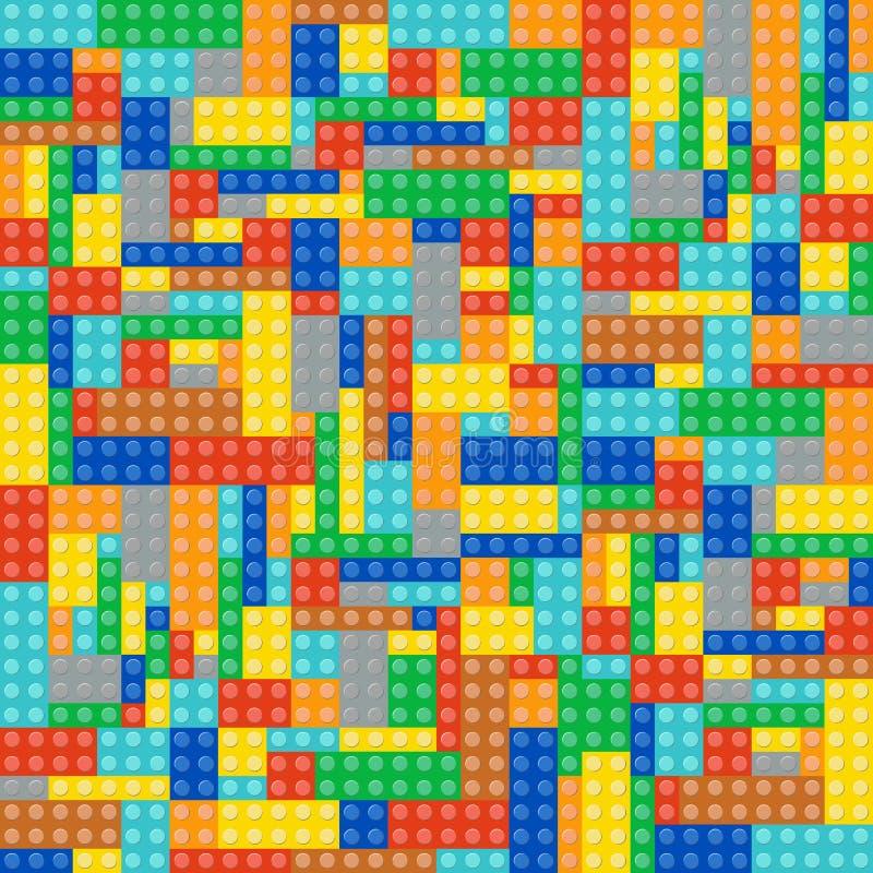 Multicolor cegła bloki royalty ilustracja
