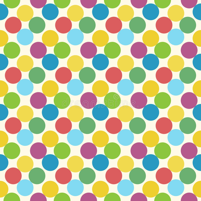 Multicolor circles seamless pattern vector illustration