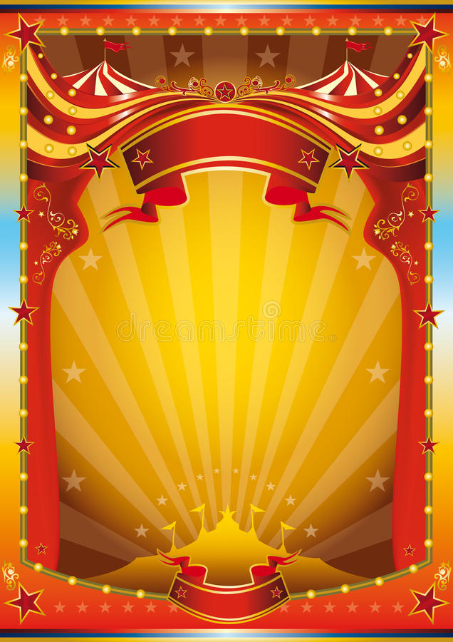 Multicolor circus poster stock illustration