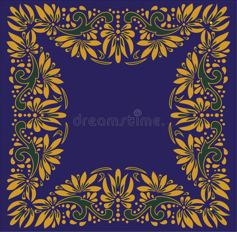 Beautiful folk art, floral decoration royalty free stock photo