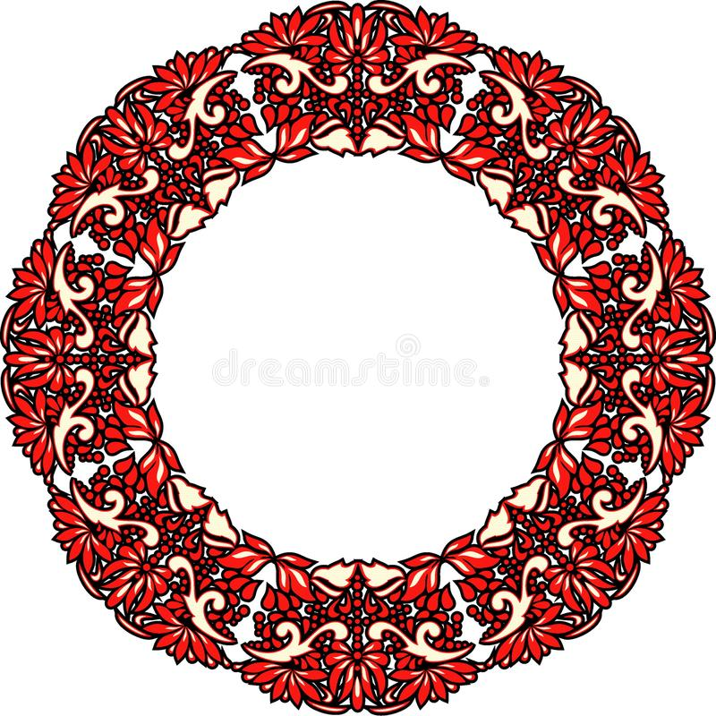 Beautiful folk art, floral decoration stock image