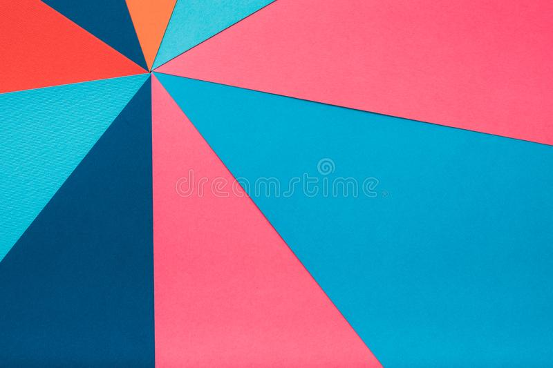 Multicolor construction paper collage background. Multicolor construction paper collage. abstract geometric background royalty free stock image