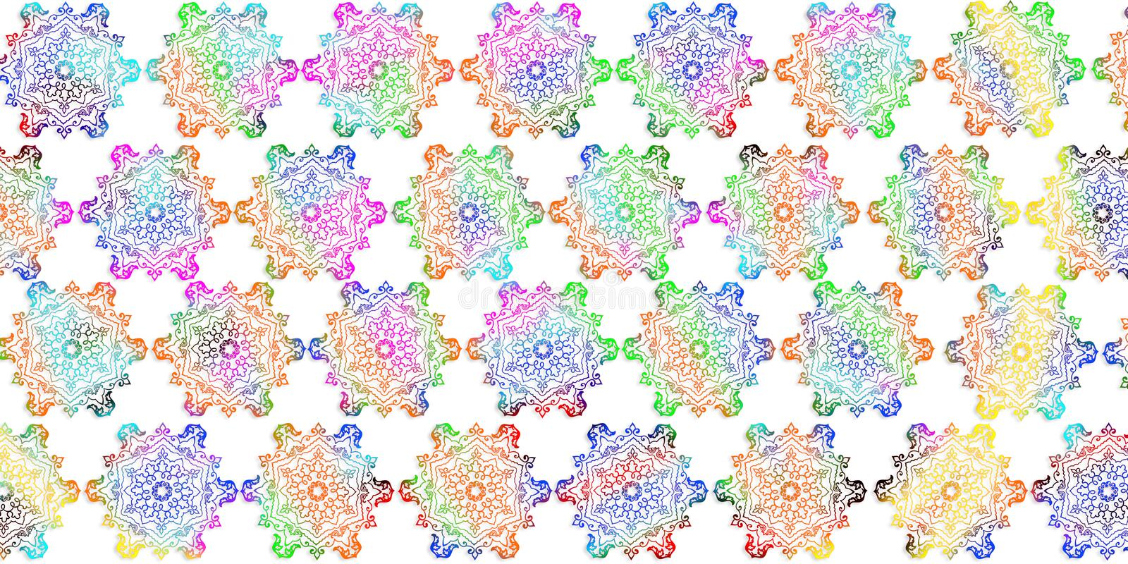 Multicolor digital wall tile decor for interior ho me,tile design,wall art, wallpaper, linoleum, webpage, background, illustration vector illustration
