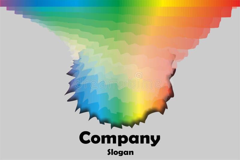 Multicolor emblem stock photography