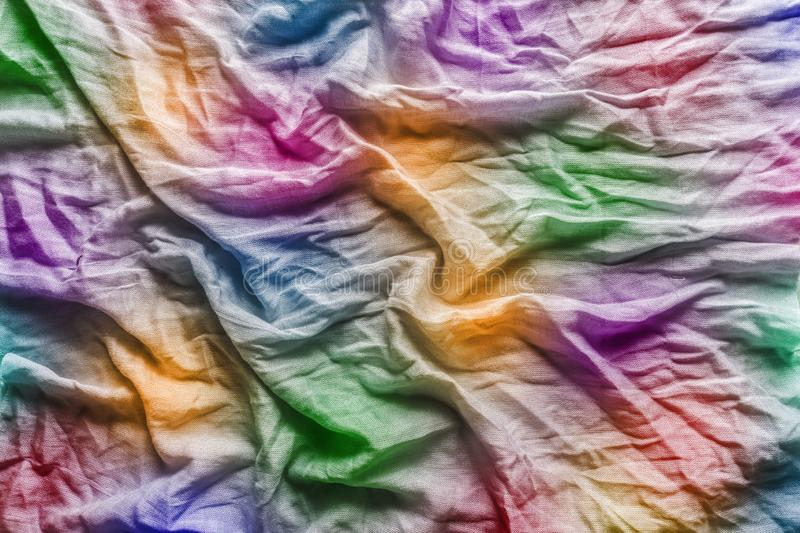 Multicolor folded fabric abstract background royalty free stock image