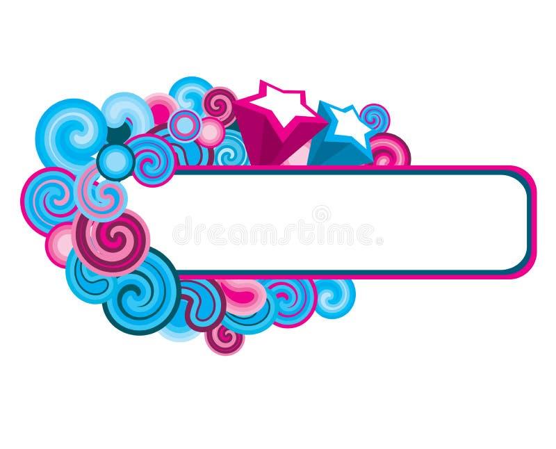 Multicolor_frame stock de ilustración