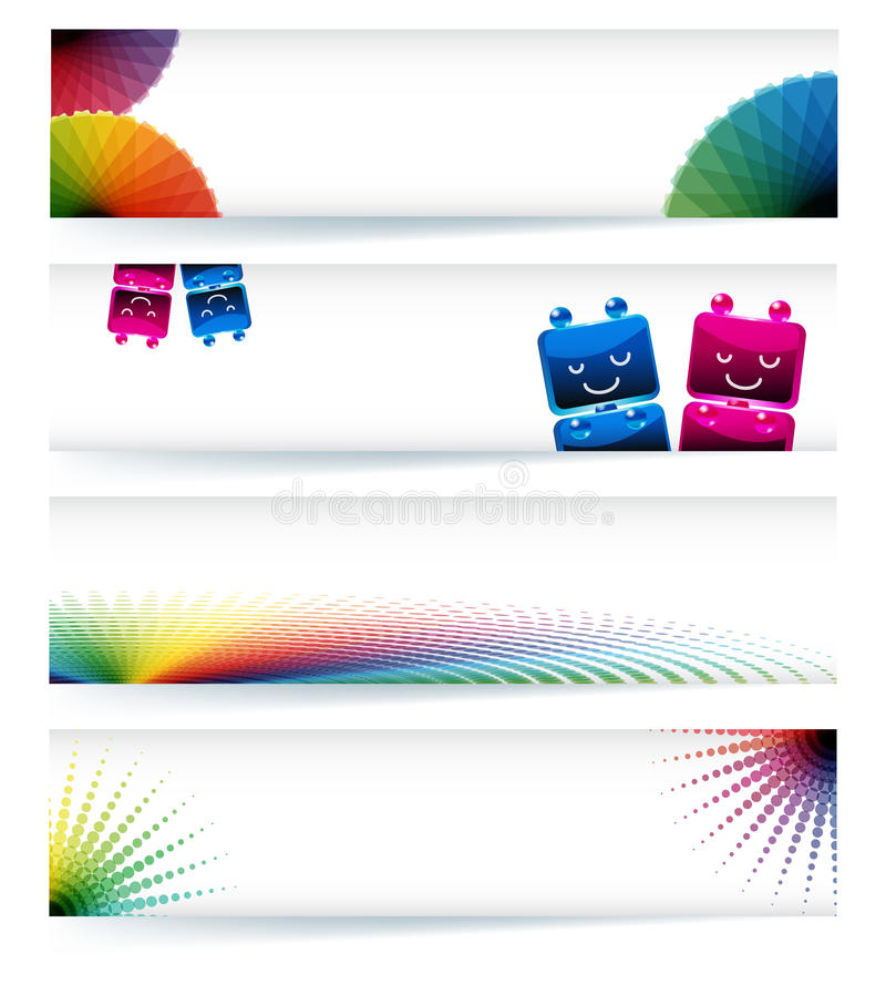 Multicolor gamut banner design stock image