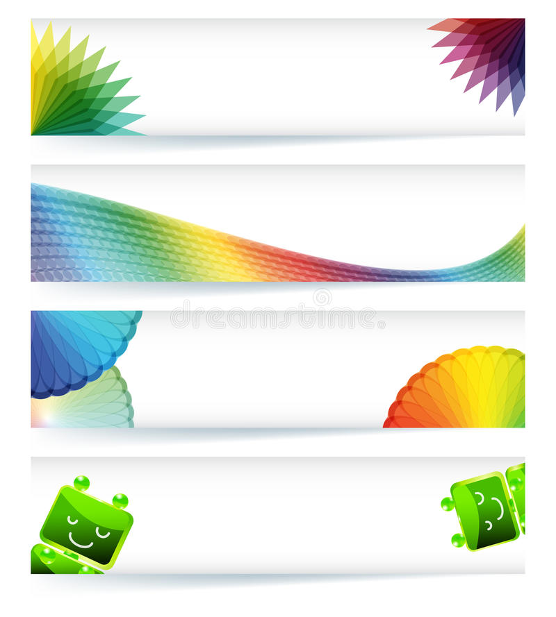 Multicolor gamut banner design. stock image