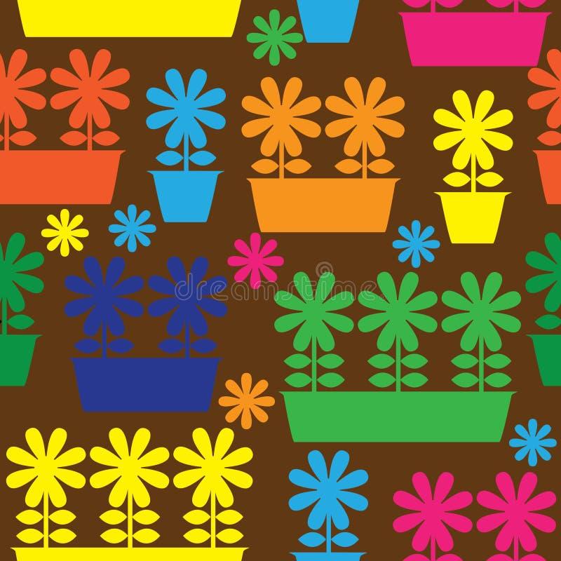 Multicolor garnek kwiat ikona bezszwowy royalty ilustracja