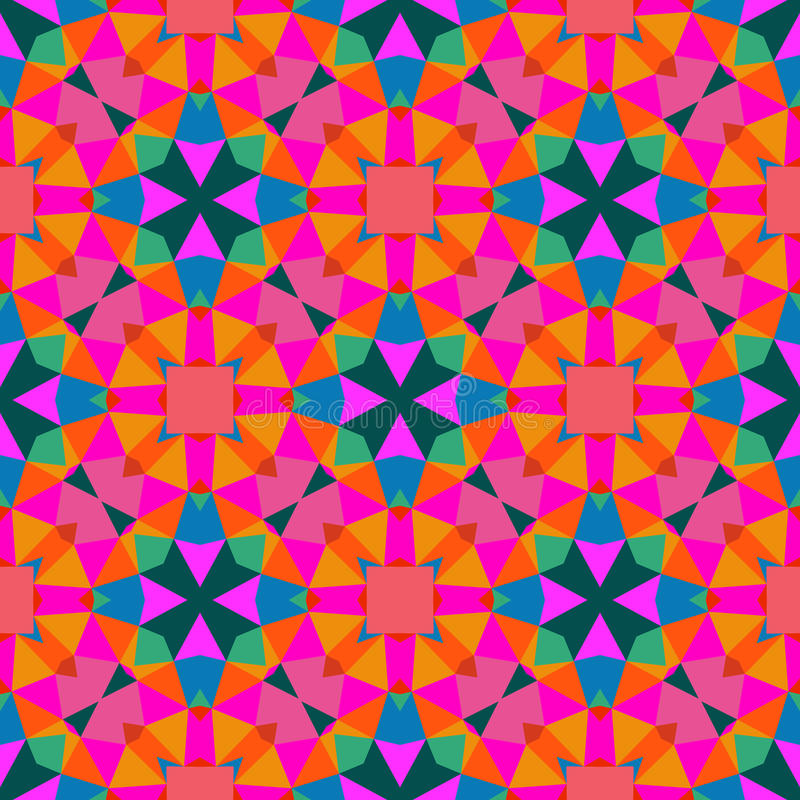 Free Colorful Geometric Wallpaper: Multicolor Geometric Pattern In Bright Color. Royalty Free
