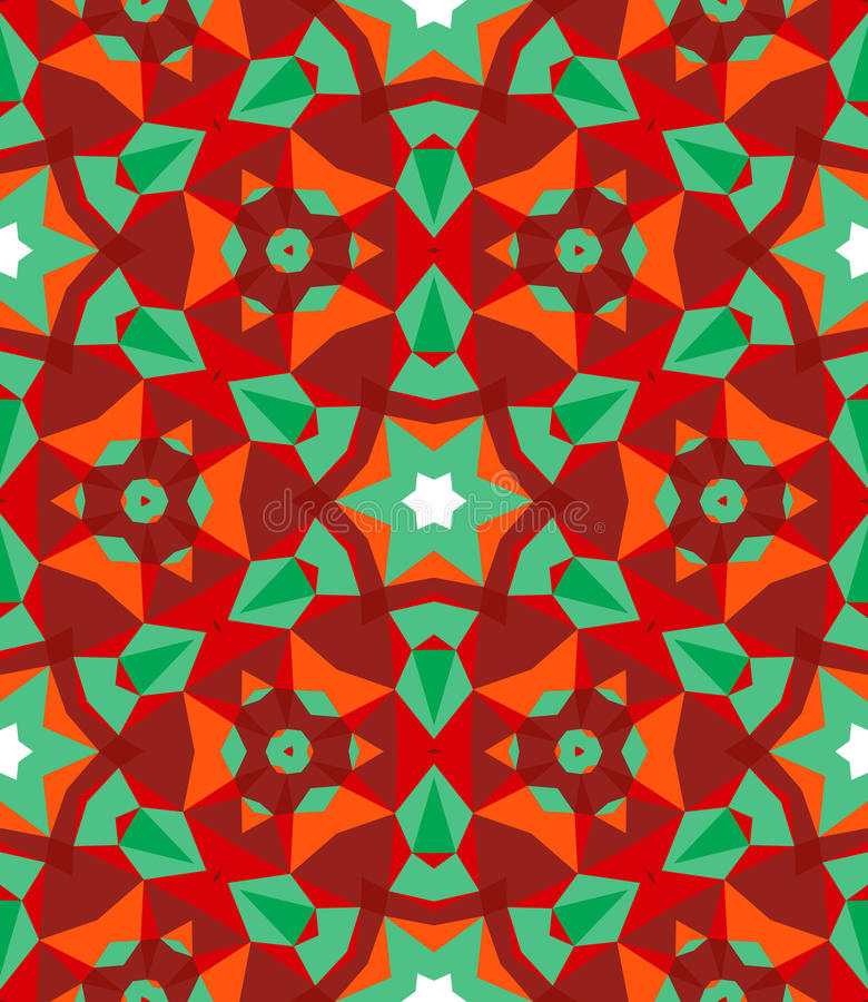 Multicolor geometric pattern in bright color. royalty free illustration