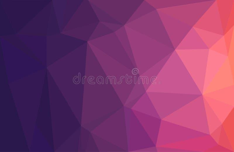 Multicolor geometryczny tło z trójbokami Wektorowa Niska Poli- ilustracja ilustracja wektor