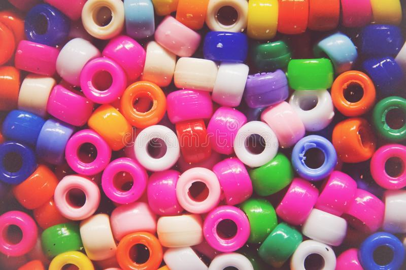 Multicolor glass beads, background stock photo