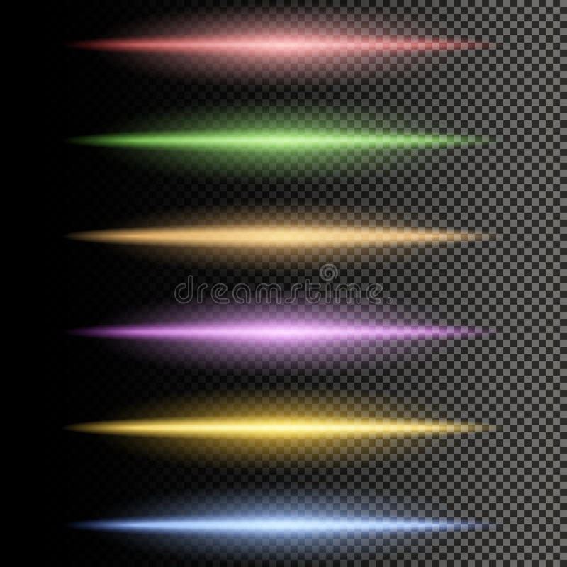 Multicolor glowing particles of light stock illustration
