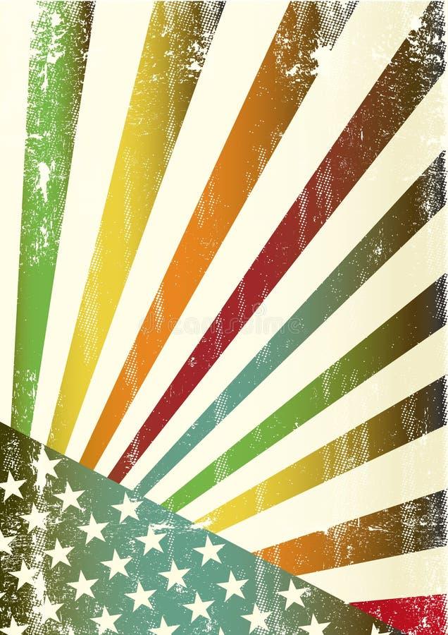Download Multicolor Grunge American Flag Stock Vector - Image: 21142265