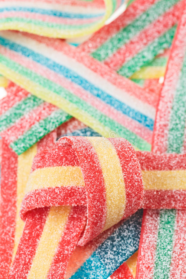 Multicolor gummy candy (licorice) sweets stock image