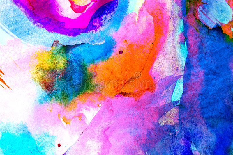 Multicolor watercolor background for backgrounds or textures royalty free stock photography