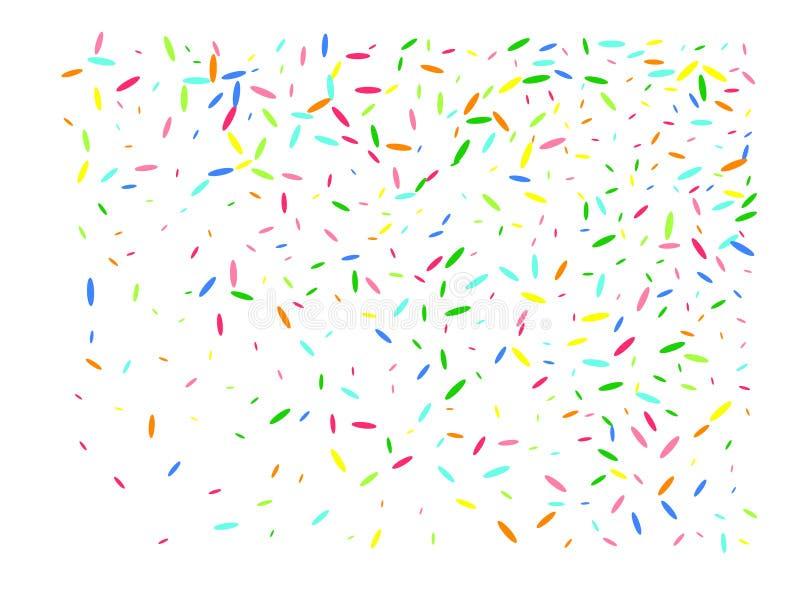 Multicolor heksagonalni kształtów confetti cyfrowi ilustracja wektor