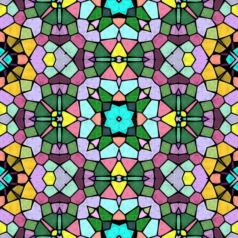 Multicolor kaleidoscopic seamless background royalty free stock photography