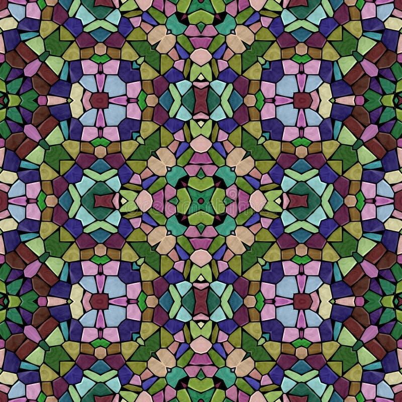 Multicolor kaleidoscopic seamless background royalty free stock image