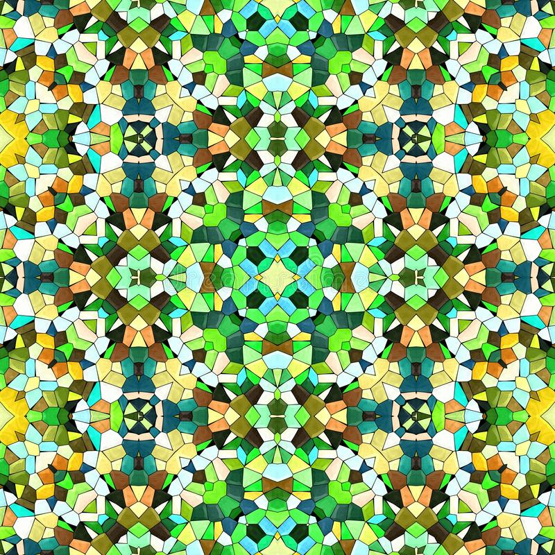 Multicolor kaleidoscopic seamless background stock photos