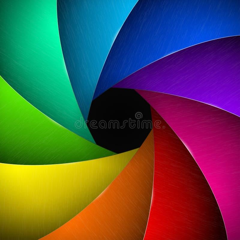 Multicolor kamery żaluzja ilustracja wektor