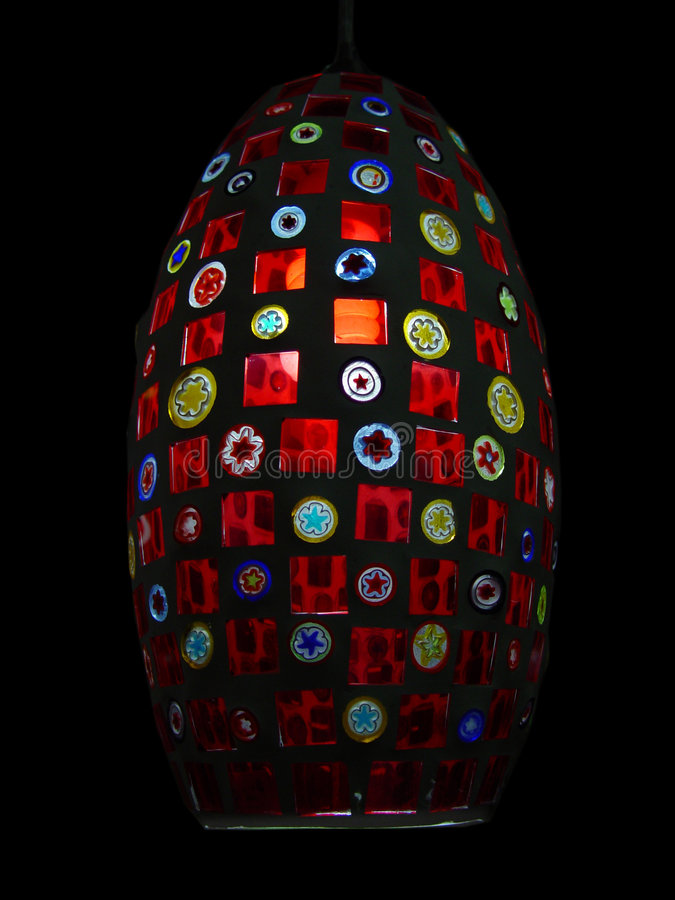 Multicolor lamp stock photography