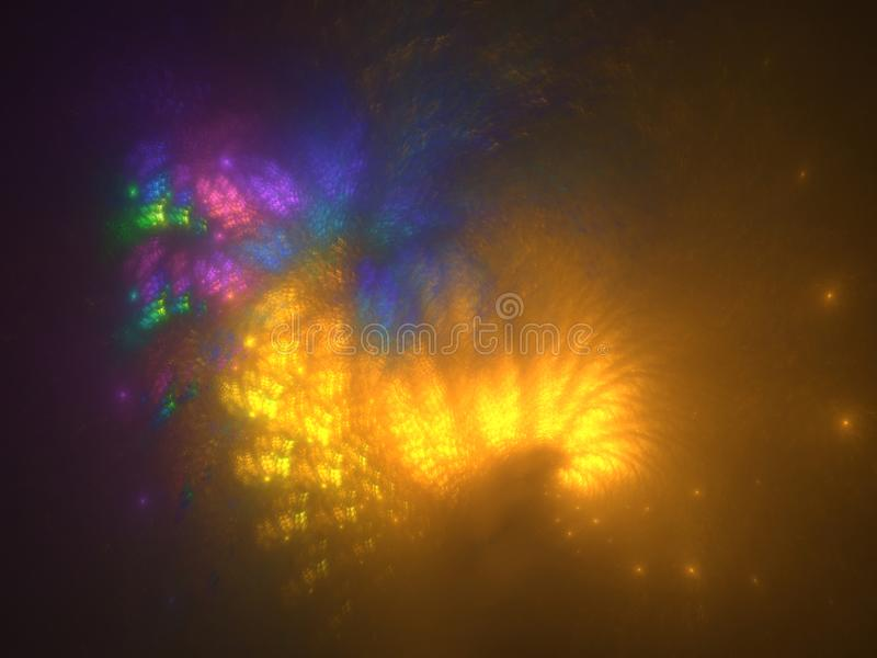 Multicolor lights pattern abstract background stock photos