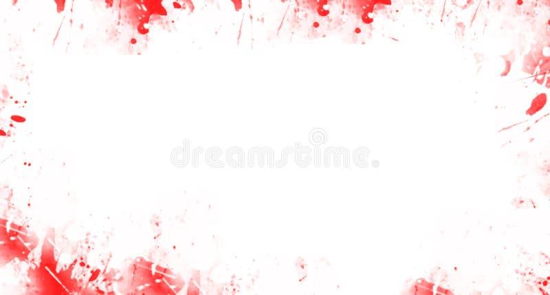 Multicolor mancha o salpica de la pintura bajo la forma de marco blots ilustración del vector