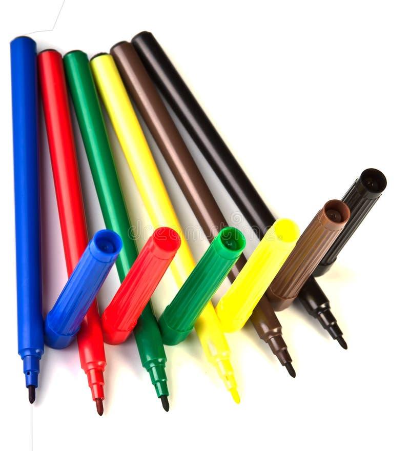 Download Multicolor marker stock image. Image of macro, felt, white - 17141273